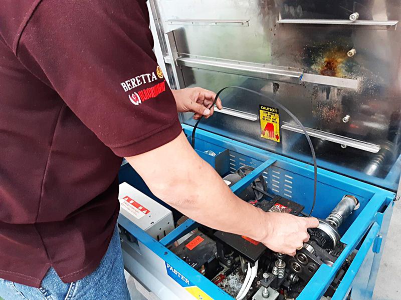 ซ่อมเครื่องรัดกล่อง-เครื่องไฟช็อต